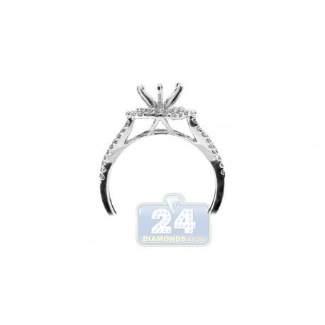 14K White Gold 0.49 ct Diamond Engagement Ring Setting