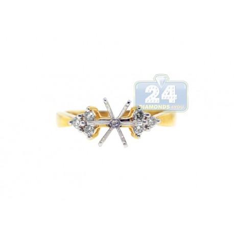 14K Yellow Gold 0.23 ct Diamond Engagement Ring Setting