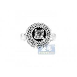 14K White Gold 1.07 ct Diamond Womens Engagement Ring