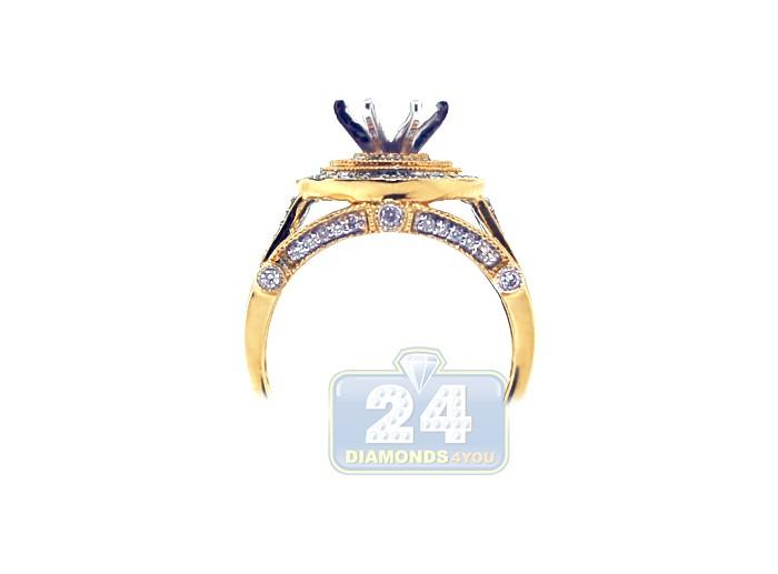14K Yellow Gold 0 51 ct Diamond Engagement Ring Setting