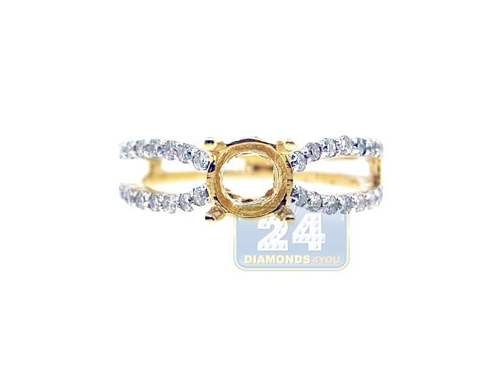 14K Yellow Gold 0 52 ct Diamond Engagement Ring Setting