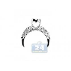 14K White Gold 0.33 ct Diamond Open Design Engagement Ring Setting