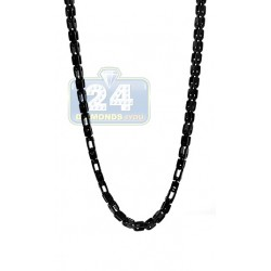 Black PVD Stainless Steel Mens Bicycle Chain 40 Inches