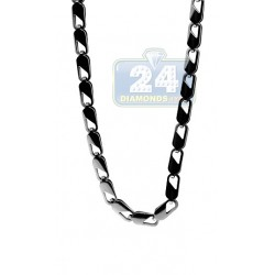 Polished Stainless Steel Link Mens Chain 30 Inches