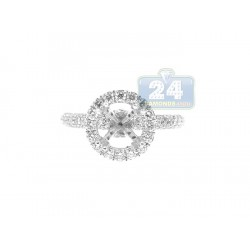 18K White Gold 0.77 ct Diamond Engagement Ring Setting