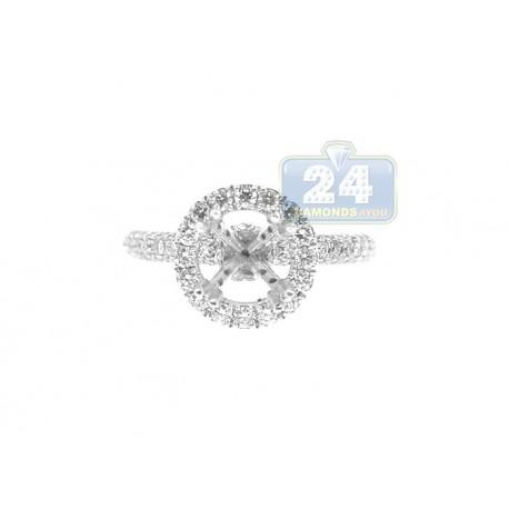 18K White Gold 0.77 ct Diamond Engagement Ring Setting