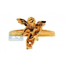 10K Yellow Gold Womens Angel Ring