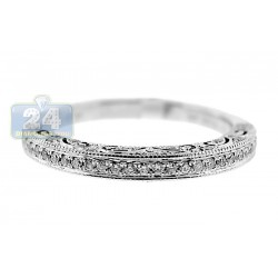 14K White Gold 0.25 ct Diamond Wedding Band Ring