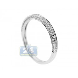 14K White Gold 0.30 ct Diamond Wedding Band Ring