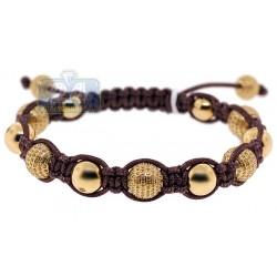 14K Yellow Gold 6.86 ct Yellow Diamond Bead Ball Bracelet
