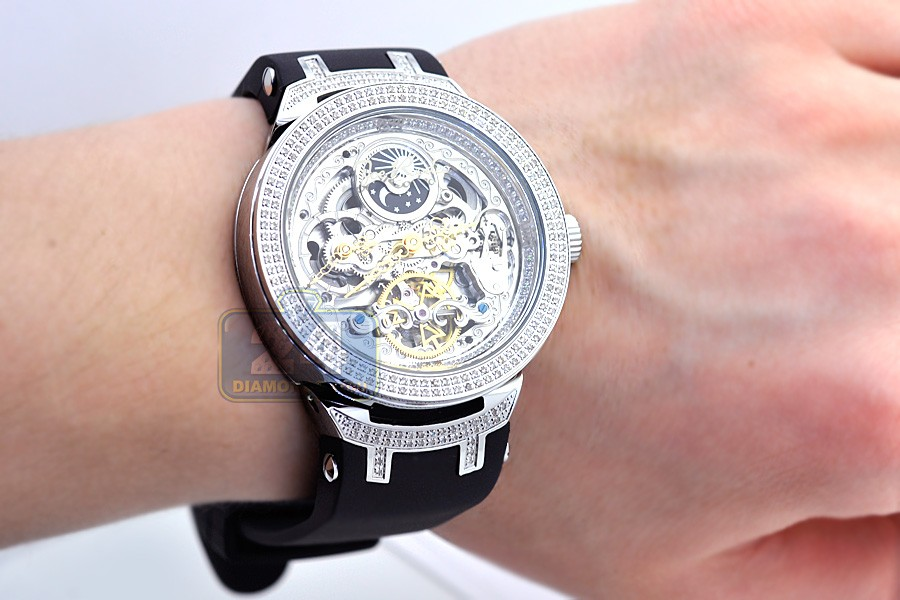 mens diamond automatic watch joe rodeo master jjm80 2 20 ct skeleton