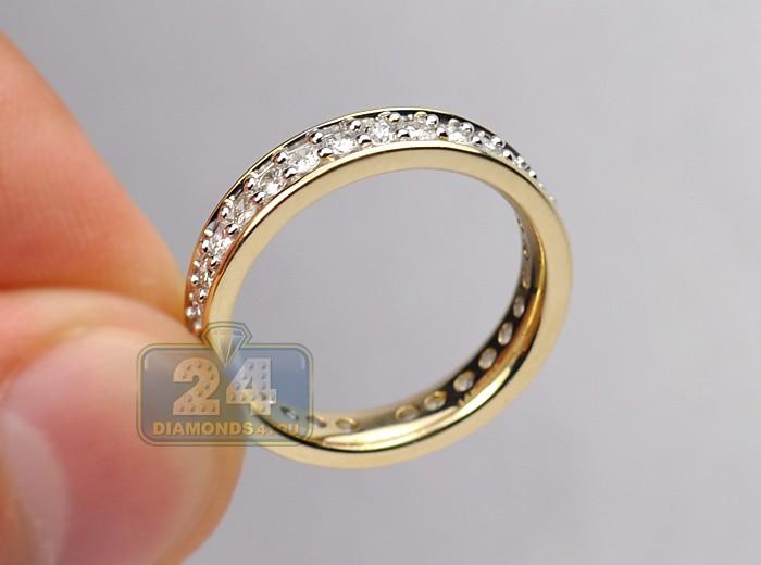 14k yellow gold ct round cut diamond womens eternity ring. Black Bedroom Furniture Sets. Home Design Ideas