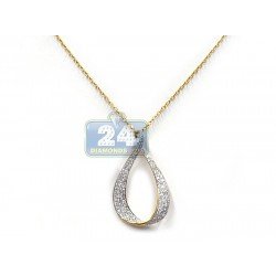 14K Yellow Gold 1.94 ct Diamond Womens Drop Pendant