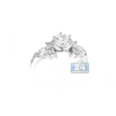 14K White Gold 0.73 ct Diamond Engagement Ring Setting