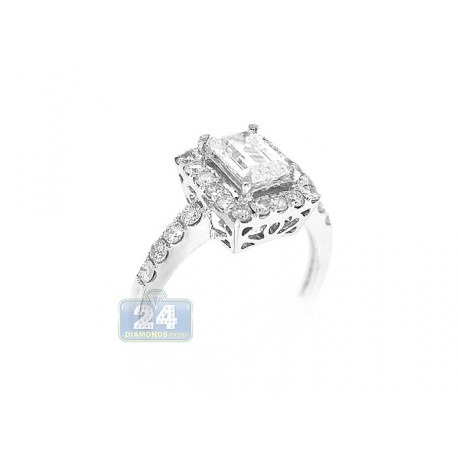 14K White Gold 0.68 ct Diamond Engagement Ring Setting