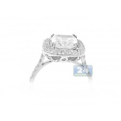 14K White Gold 0.75 ct Diamond Engagement Ring Setting