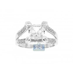 14K White Gold 0.55 ct Diamond Engagement Ring Setting