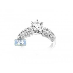 14K White Gold 0.33 ct Diamond Engagement Ring Setting