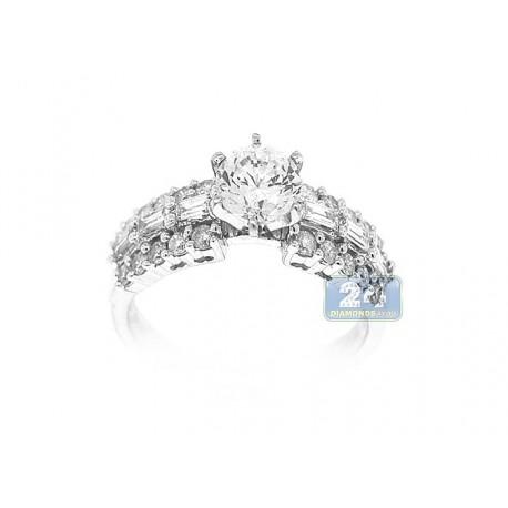 14K White Gold 0.77 ct Diamond Engagement Ring Setting