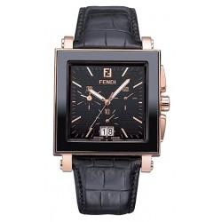 Fendi Black Ceramic Square Mens Watch F654111