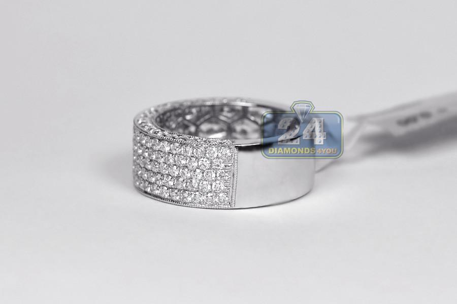 18k white gold 2 51 ct mens wedding ring