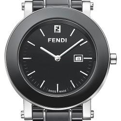 Fendi Black Ceramic Round Womens Watch F641110