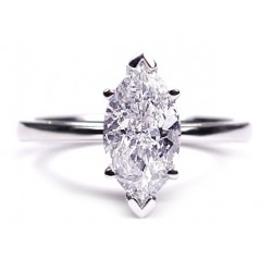 14K White Gold 1.70 ct Marquise Cut Diamond Womens Engagement Ring