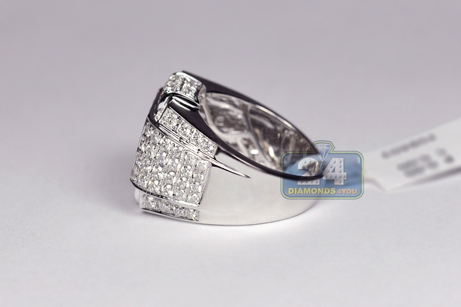 mens handmade 3 73 ct ring 14k white gold