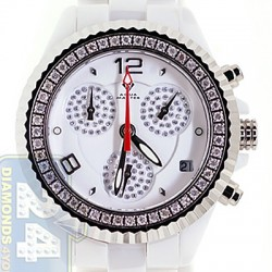 Aqua Master White Ceramic 1.25 ct Diamond Womens Mini Watch