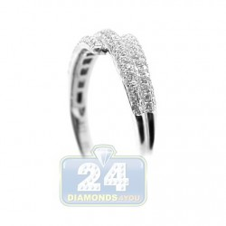 18K White Gold 0.39 ct Diamond Womens Band Ring
