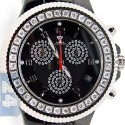 Aqua Master Black Ceramic 2.85 ct Pave Diamond Mens Watch