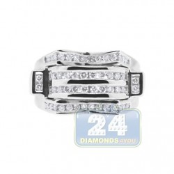 14K White Gold 0.75 ct Diamond Mens  Ring