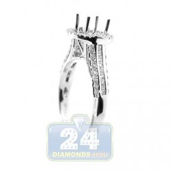 18K White Gold 0.45 ct Diamond Engagement Ring Setting