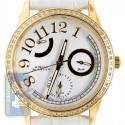 Aqua Master Classique 0.50 ct Diamond Womens Yellow Tone Silver Dial Watch