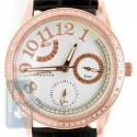 Aqua Master 0.50 ct Diamond Womens Rose PVD Silver Dial Watch