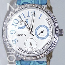 Aqua Master Classique 0.50 ct Diamond Womens Blue Watch