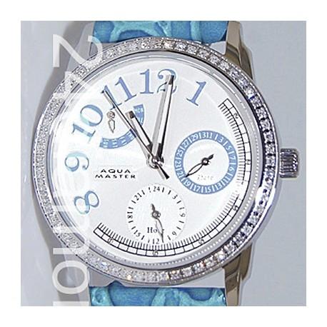 Aqua Master Classique 0.50 ct Diamond Womens Blue Watch