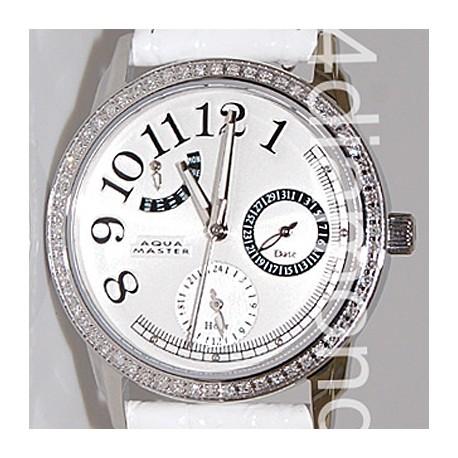 Aqua Master Classique 0.50 ct Diamond Womens White Watch