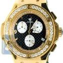 Aqua Master Oval Yellow Steel 4.00 ct Diamond Mens Watch