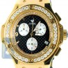Aqua Master Oval 4.00 ct Diamond Mens Yellow Gold Watch