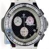 Aqua Master Oval 4.00 ct Diamond Mens Black Dial Watch