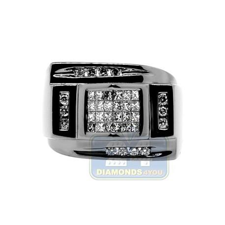 Black PVD 14K Gold 0.79 ct Diamond Mens Ring