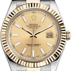 Rolex Datejust II Steel 18K Yellow Gold 41 mm Mens Watch 116333CSO