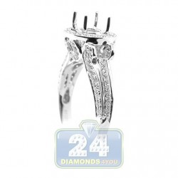 18K White Gold 0.69 ct Round Cut Diamond Engagement Ring Setting