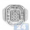 18K White Gold 1.35 ct Diamond Womens Signet Ring