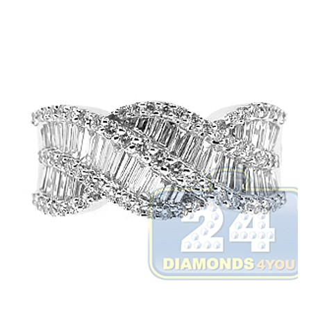 14K White Gold 1.35 ct Diamond Womens Ring