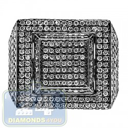 Black 14K White Gold 2.44 ct Diamond Mens Signet Ring