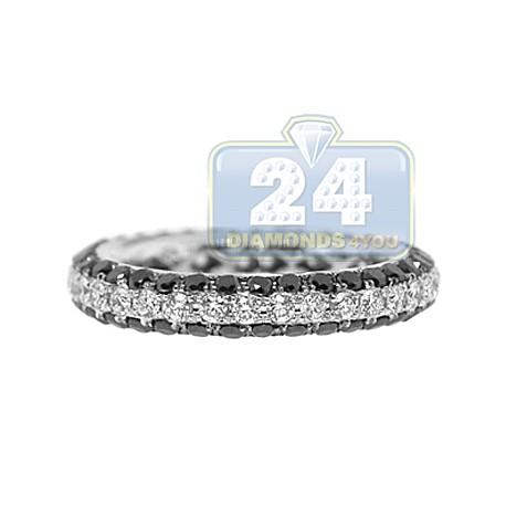18K White Gold 2.37 ct All Way Diamond Womens Wedding Ring
