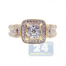 14K Yellow Gold 1.44 ct Diamond Engagement Ring