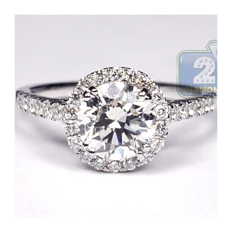 White Gold 280 ct Diamond Engagement Wedding Ring Womens Set